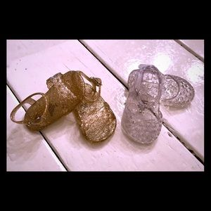 Other - 2 pair of baby jelly sandals- size 0-3m